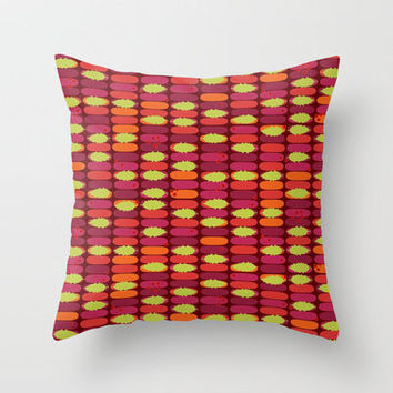 holly stack Throw Pillow by Sharon Turner   Society6