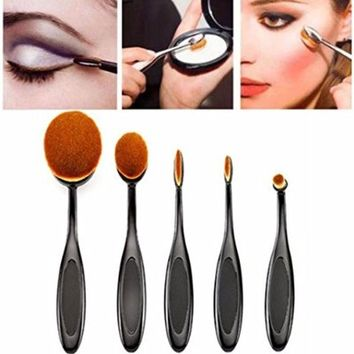 Messon 5 pcs Makeup Brush Cosmetic Foundation Brush Cream Powder Blush Makeup Brush Set