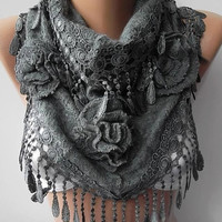 NEW Gorgeous Scarf   Elegant and Classy...Dark gray