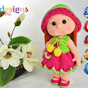 PATTERN  - Mia Doll Inspired Watermelon