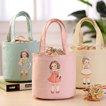 Durable Useful cute Thermal Insulated Box Tote Cooler Bag Bento Pouch Lunch Storage Case