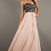 Long Strapless Sweetheart Prom Gown by Mori Lee