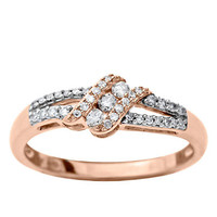 Lord & Taylor 14Kt. Rose Gold Diamond Ring