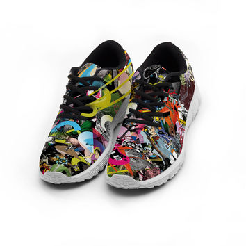 Popping collage shoes