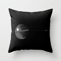 Destroyer imperial crane Throw Pillow by Tony Vazquez