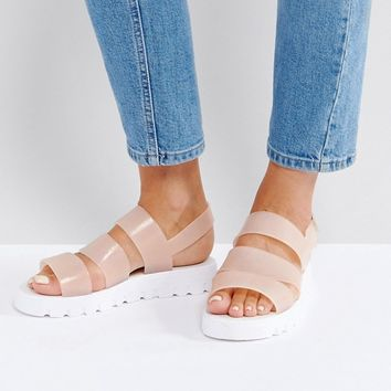 ASOS FROU Jelly Flat Sandals at asos.com