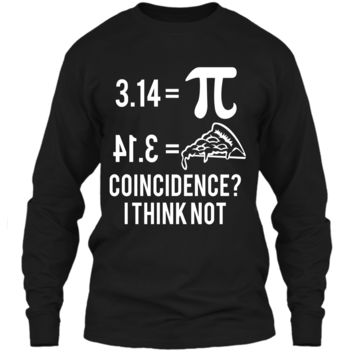 Funny Math Pun Pi Day 2019 Pi Equals Pie T-Shirt LS Ultra Cotton Tshirt