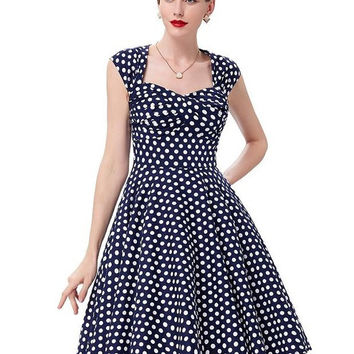 Belle Poque Women Summer Dress vestidos 2017 Retro Vintage Cotton Party Picnic Dress Rockabilly 50s Vintage Floral Print Dresses