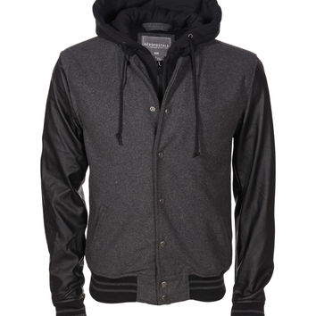 Aeropostale  Wool Hooded Varsity Jacket