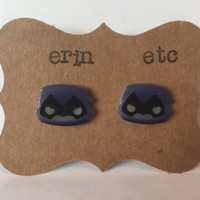 Handmade Plastic Fandom Earrings - Comic Cartoon - Raven
