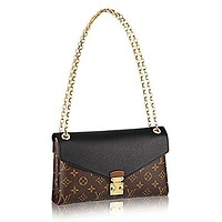 Louis Vuitton Pallas Chain Noir Color Clutch Shoulder Bag Cross Body Article: M41223
