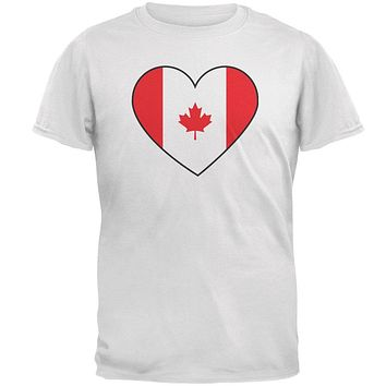 Canada Day Canadian Flag Heart Mens T Shirt