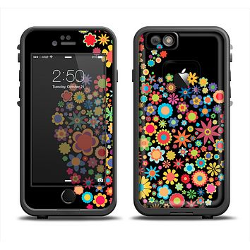 The Apple Icon Floral Collage Apple iPhone 6 LifeProof Fre Case Skin Set