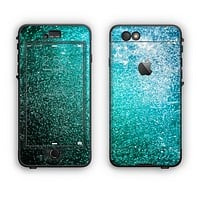The Grungy Teal Texture Apple iPhone 6 Plus LifeProof Nuud Case Skin Set