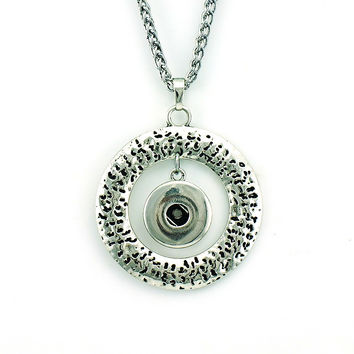 Fashion 18mm Snap Buttons Interchange Pendant Necklaces For Men Statement Jewelry
