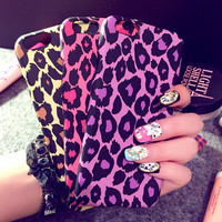 Leopard Prints Hard PC Case For iPhone 6 4.7 6 plus 5.5 inch Back Cover Case