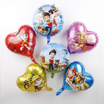 Paw Patrol Foil Balloons 18inch Paw Patrol Birthday Party Decorations Kids Toys Gift 50pcs Authorized Dog Helium Globos Baloon