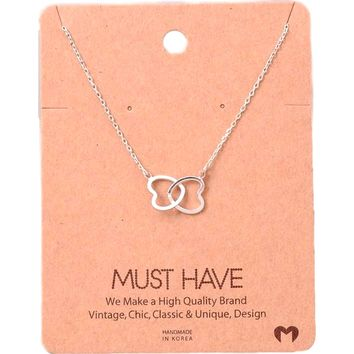 Must Have-Double Heart Necklace, Silver