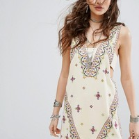 Free People Never Been Embroidered Mini Dress at asos.com