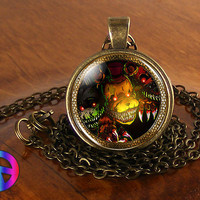 5 Five Nights at Freddy's FNaF Game Gamer Gaming Necklace Pendant Jewelry Gift
