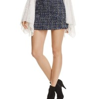 Alice + Olivia Riley Tweed Mini Skirt | Bloomingdales's