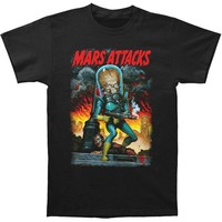 Mars Attacks! Men's  City Destruction T-shirt Black