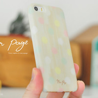 apple iphone case : pastel polka dots