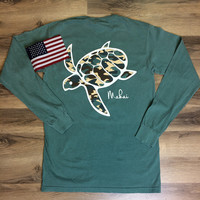Light Green Pocketed Camo Print
