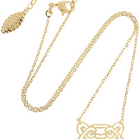 KENZO | Tiger gold-plated cubic zirconia necklace | NET-A-PORTER.COM