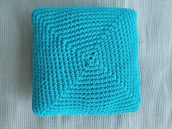 Floor Pillow Crochet Pattern : Floor cushion Crochet cushion Large floor from WorldofKismomo on