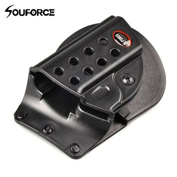 M1911 Series Gun Holster with 8 Holes Polyester Military Airsoft Pistol Gun Bag Protector Shotgun for Outdoor Hunting Accessorie