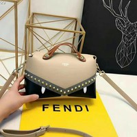 Fendi Women Fashion Leather Satchel Bag Shoulder Bag Crossbody