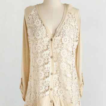 Festival Mid-length Long Sleeve Button Down Return of the Macchiato Cardigan by ModCloth