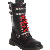 Demonia By Pleaser Studded Rocker Lace-Up Boots