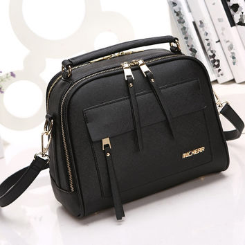 Newest Ladies Leather Crossbody Shoulder Handbag
