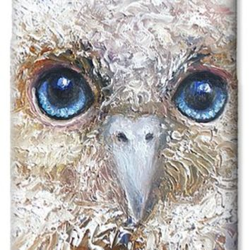 Blue eyed owl painting iPhone 5 Case / iPhone 5 Cover for Sale by Jan Matson