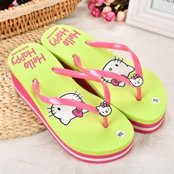 ac VLXC Stylish Design Beach Anti-skid Slippers Summer Home Ladies Cats Sandals [10210886860]