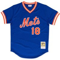 Mitchell Ness Darryl Strawberry 1986 Authentic Mesh BP Jersey New York Mets