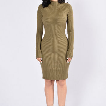 All That Spice Dress - Olive