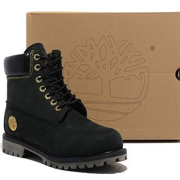 Men's Timberland Icon 6 Inch Premium Classic Black Waterproof Boots
