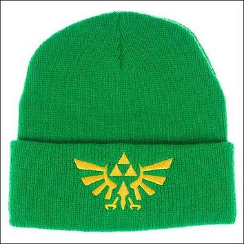 Nintendo The Legend of Zelda Cosplay Roll Slouch Cuff Beanie Cap Hat GREEN