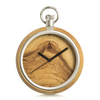 Wood Pocket Watch // Olive Ash Plain