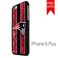 New England patriots NFL logo glitter FDL iPhone 6 Plus Case