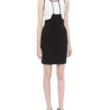 Women's Memphis Textured Body-Conscious Dress - Yoana Baraschi - Cwhite/Blackshado