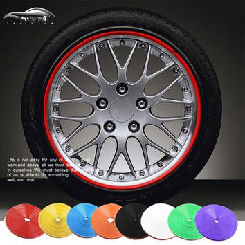 8M/Roll Car Wheel Protector Hub Sticker Car Decorative Styling Strip Rims blade Auto Accessories for BMW E46 E36 E60 E65 E39
