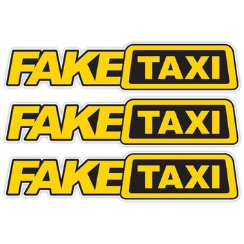 2pcs Universal Car Sticker FAKE TAXI Reflective Funny Car Sticker Car Window Decal Drift Turbo Hoon Race Car Styling