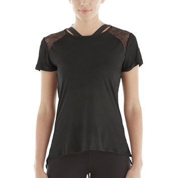 Michi Liquify Top - Black | Womens Luxury Sportswear