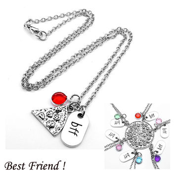 BFF Pizza w/Charms Necklaces
