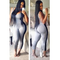 Backless Jumpsuit Bodycon Overalls Sexy Bodysuit Plus Size Combinaison Femme Rompers Womens Jumpsuit Club Overalls For Women