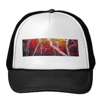 Red winter night trucker hat